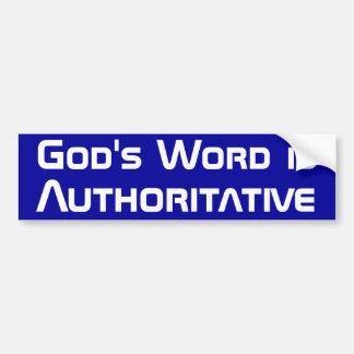 La palabra de dios pegatina para auto