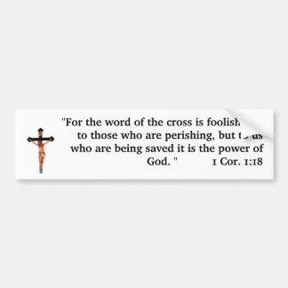 La palabra de la cruz pegatina para auto