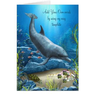 La palabra de la tarjeta del delfín