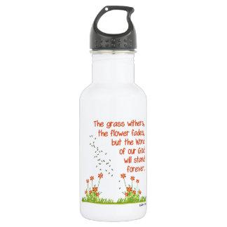 La palabra de nuestro dios colocará para siempre botella de agua de acero inoxidable