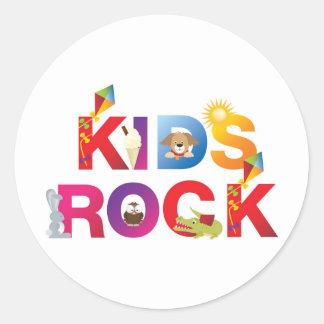 La palabra embroma la roca etiquetas redondas