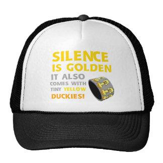 La palabra es plata y el silencio oro humor Ducky  Gorro De Camionero