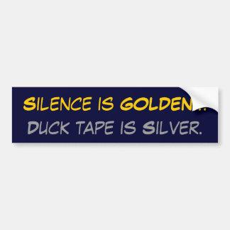 La palabra es plata y el silencio oro…, la cinta d pegatina para auto