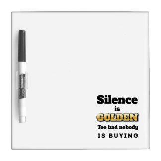 La palabra es plata y el silencio oro pizarras