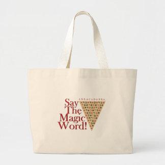 La palabra mágica bolsa de tela grande