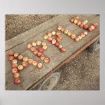 """La palabra """"manzana"""" en manzanas póster"""
