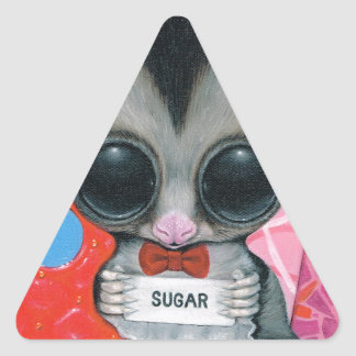 La palabra secreta pegatina triangular