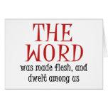 La palabra tarjeta