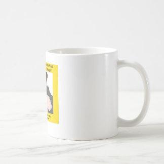 La palabra taza básica blanca