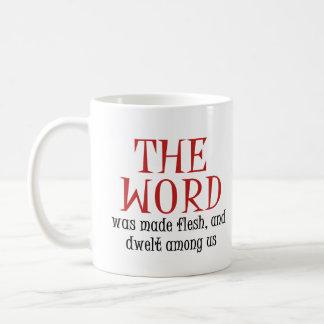 La palabra taza de café