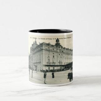La Palais d'Orsay Paris 1908 Vintage Two-Tone Coffee Mug