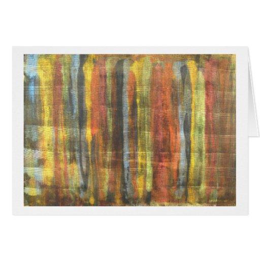 La paleta del pintor tarjeta de felicitación