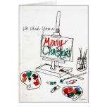 La paleta Notecard del navidad
