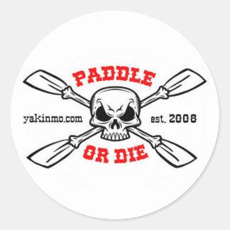 La paleta o muere pegatina de Yakinmo.com
