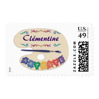 La Palette de l'Artiste Stamp