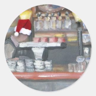 La Palette Santa Classic Round Sticker