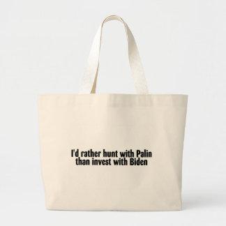 La Palin-Caza con Palin que invierte con Biden Bolsa Tela Grande