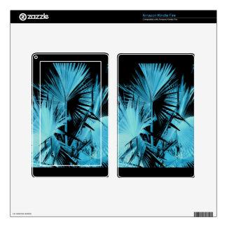La palma de Bismarck enciende las pieles azules Kindle Fire Pegatinas Skins