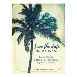 La palmera tropical Key West de la playa ahorra la Tarjeta Postal