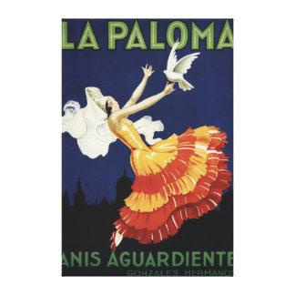 La Paloma - Anis Aguardiente promocional Impresión En Lona Estirada