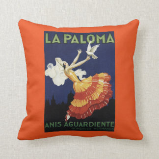 La Paloma - Anis Aguardiente Promotional Throw Pillow