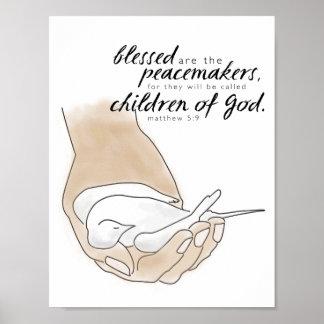 La paloma, Blessed es los pacificadores, 5:9 de Póster