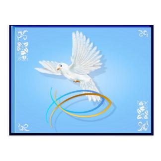 La paloma de la paz tarjetas postales