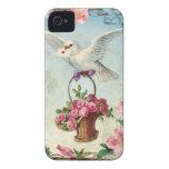 La paloma de la tarjeta del día de San Valentín en Case-Mate iPhone 4 Funda