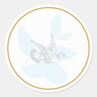 La paloma del azul y el bautismo de la rama sellan