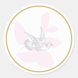 La paloma del rosa y el bautismo de la rama sellan