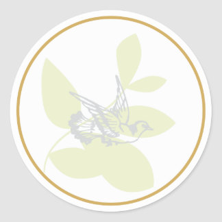 La paloma del verde y el bautismo de la rama sella