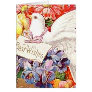 La paloma del Victorian de recuerdos florece el vi Tarjeta De Felicitación