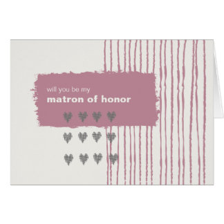 La paloma gris y rosada sea mi matrona del honor felicitaciones