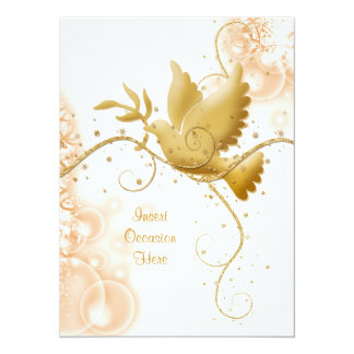"""La paloma n remolina boda católico invitación 5.5"""" x 7.5"""""""