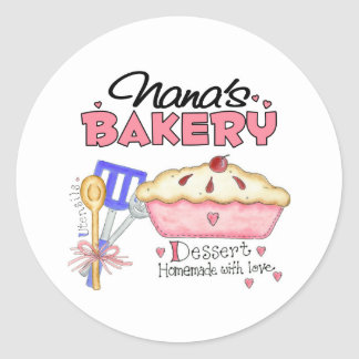 La panadería de Nana Pegatina Redonda