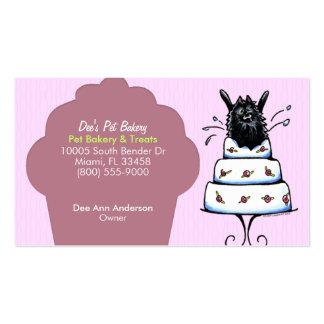 La panadería del mascota trata la magdalena del ci plantillas de tarjetas de visita