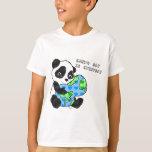 La panda abraza la tierra/earthday playera