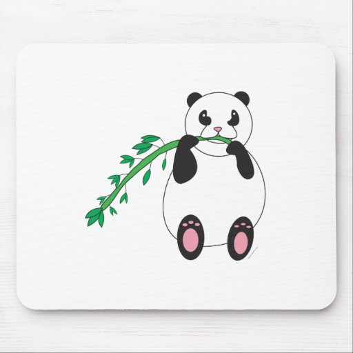 La panda come una invitación sabrosa alfombrillas de ratón