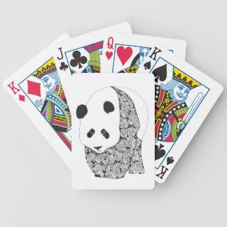 La panda con los rosas baraja de cartas bicycle