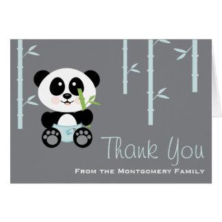 La panda de bambú azul en fiesta de bienvenida al  tarjeta