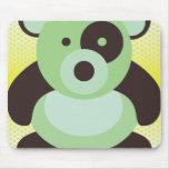 La panda de la verde menta refiere amarillo alfombrilla de raton