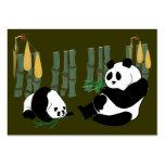 La panda del ATC de ACEO come el bambú con la tarj Plantillas De Tarjetas Personales