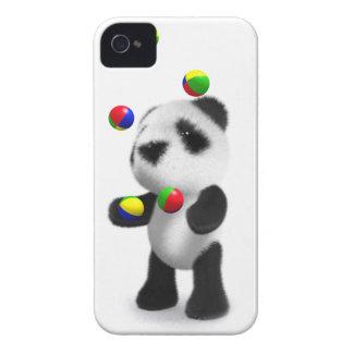 la panda del bebé 3d hace juegos malabares iPhone 4 Case-Mate protector