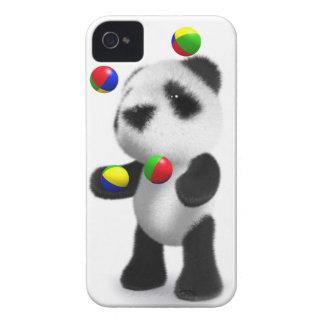 la panda del bebé 3d hace juegos malabares iPhone 4 cobertura