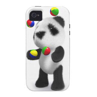 la panda del bebé 3d hace juegos malabares vibe iPhone 4 carcasa