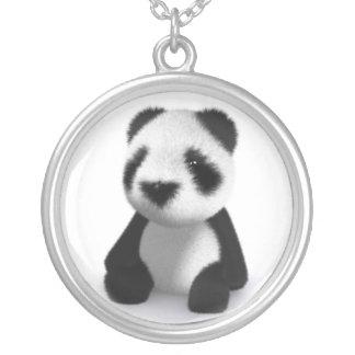 la panda del bebé 3d se sienta colgante redondo