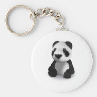 la panda del bebé 3d se sienta llavero