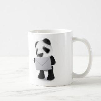 la panda del bebé 3d tiene una letra taza de café