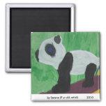La panda embroma el imán del arte
