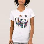 la panda florece la camiseta